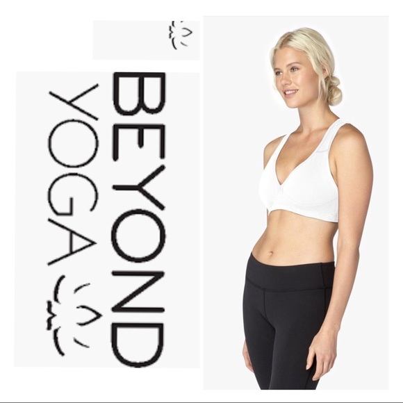 3c3eeddeb Beyond Yoga Other - Beyond Yoga white Lift your Spirits sport bra